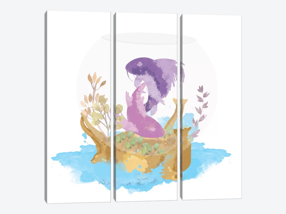 Observe Through The Glass 3-piece Canvas Wall Art
