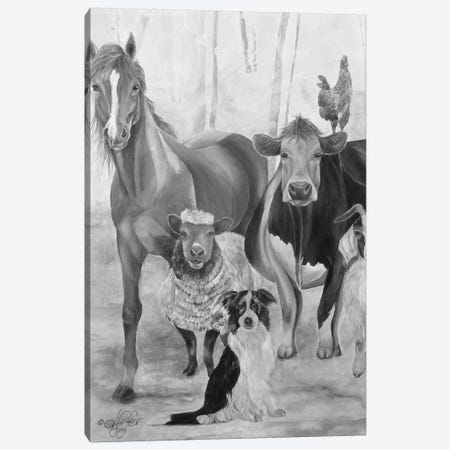 The Gang Canvas Print #DFI15} by Diane Fifer Canvas Art