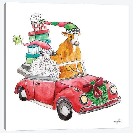 Christmas Car Canvas Print #DFI20} by Diane Fifer Canvas Art