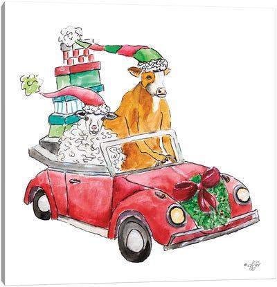 Christmas Car Canvas Art Print