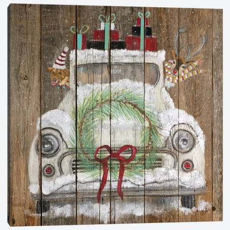 Christmas Truck Canvas Print #DFI21} by Diane Fifer Canvas Artwork