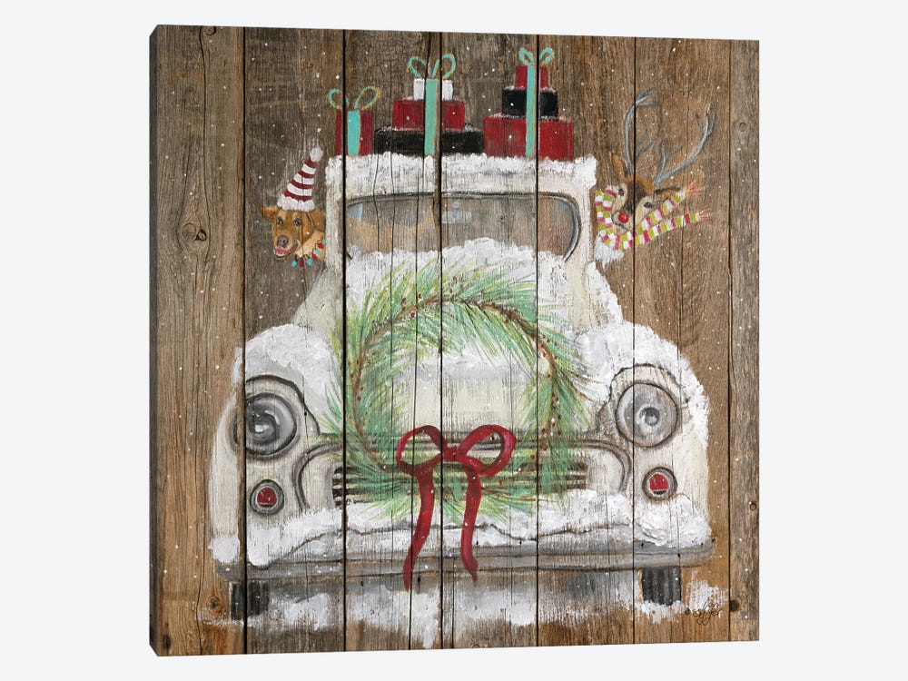 Christmas Truck 1-piece Canvas Artwork