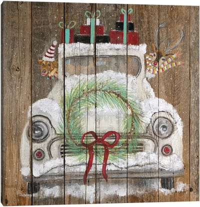 Christmas Truck Canvas Art Print