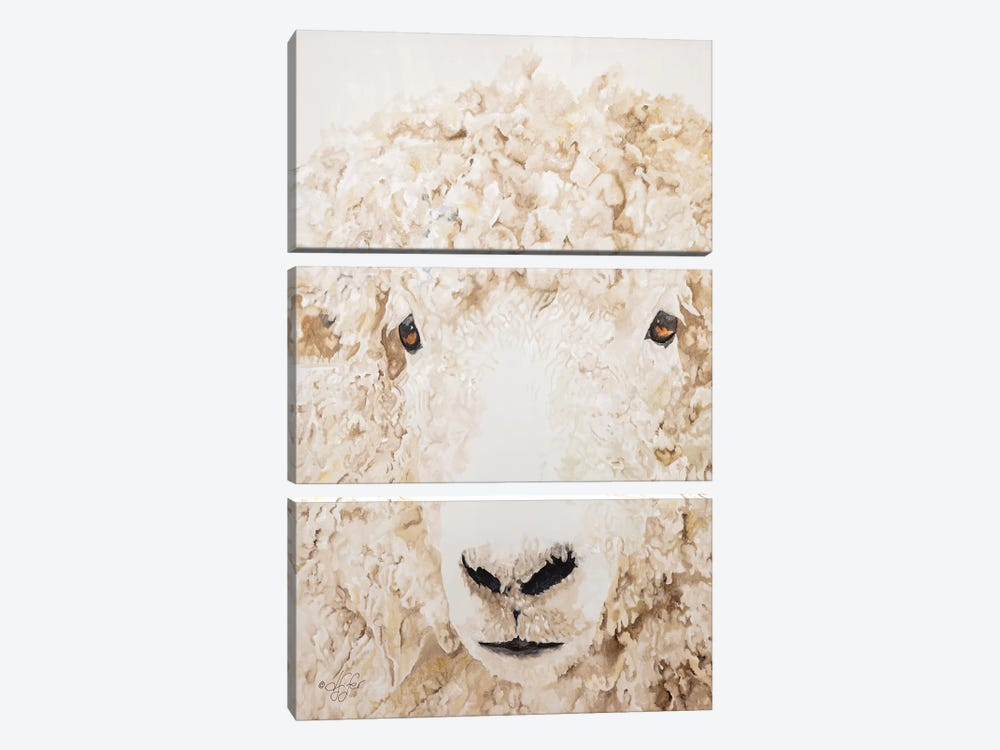 Woolly by Diane Fifer 3-piece Canvas Print