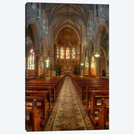 Nave & Altar, Church Of The Sacred Heart Of Jesus, County Roscommon, Connacht Province, Republic Of Ireland Canvas Print #DFL1} by Dennis Flaherty Canvas Wall Art