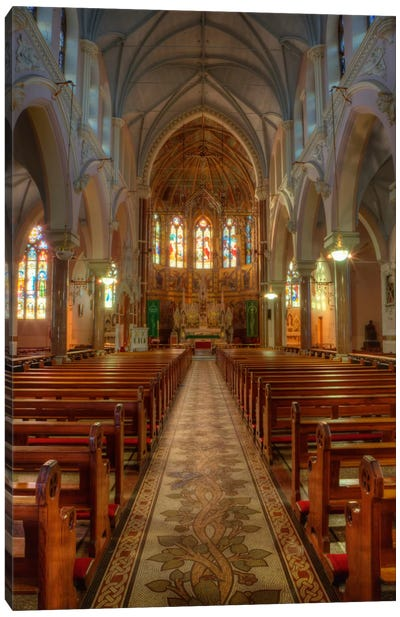 Nave & Altar, Church Of The Sacred Heart Of Jesus, County Roscommon, Connacht Province, Republic Of Ireland Canvas Art Print