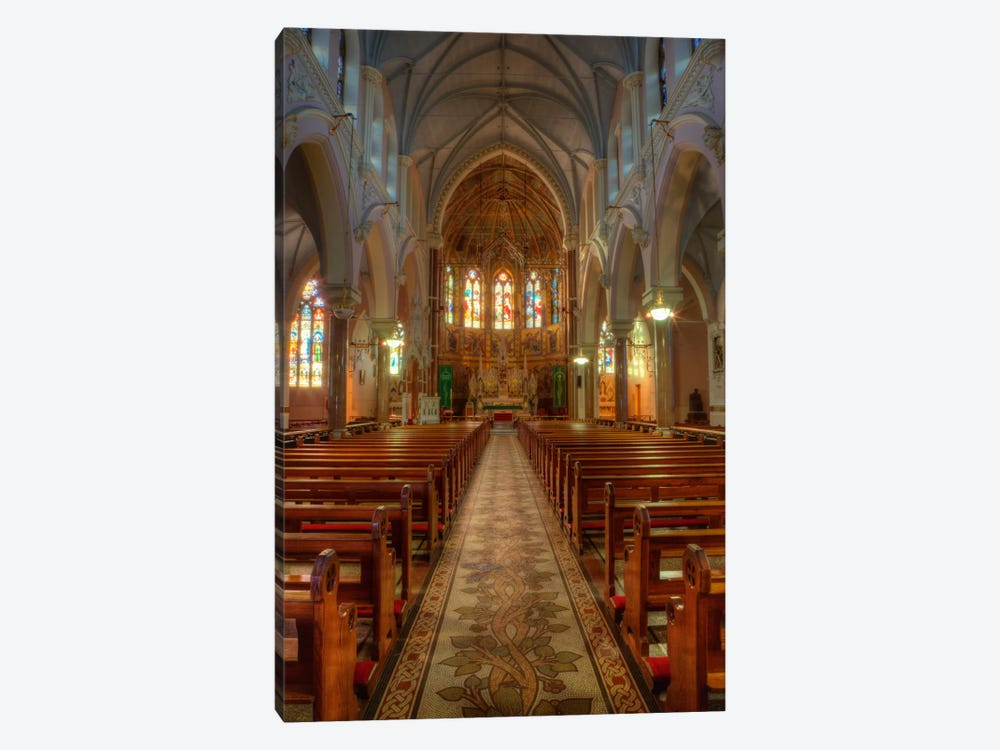 Nave & Altar, Church Of The Sacred Heart Of Jesus, County Roscommon, Connacht Province, Republic Of Ireland by Dennis Flaherty 1-piece Canvas Wall Art