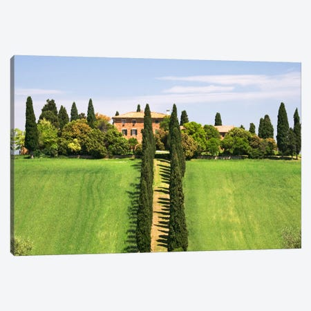 Country Estate, Val d'Orcia, Tuscany Region, Italy Canvas Print #DFL4} by Dennis Flaherty Art Print