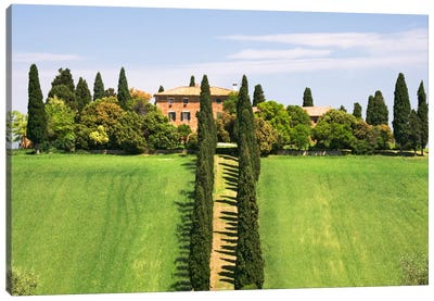 Country Estate, Val d'Orcia, Tuscany Region, Italy Canvas Art Print