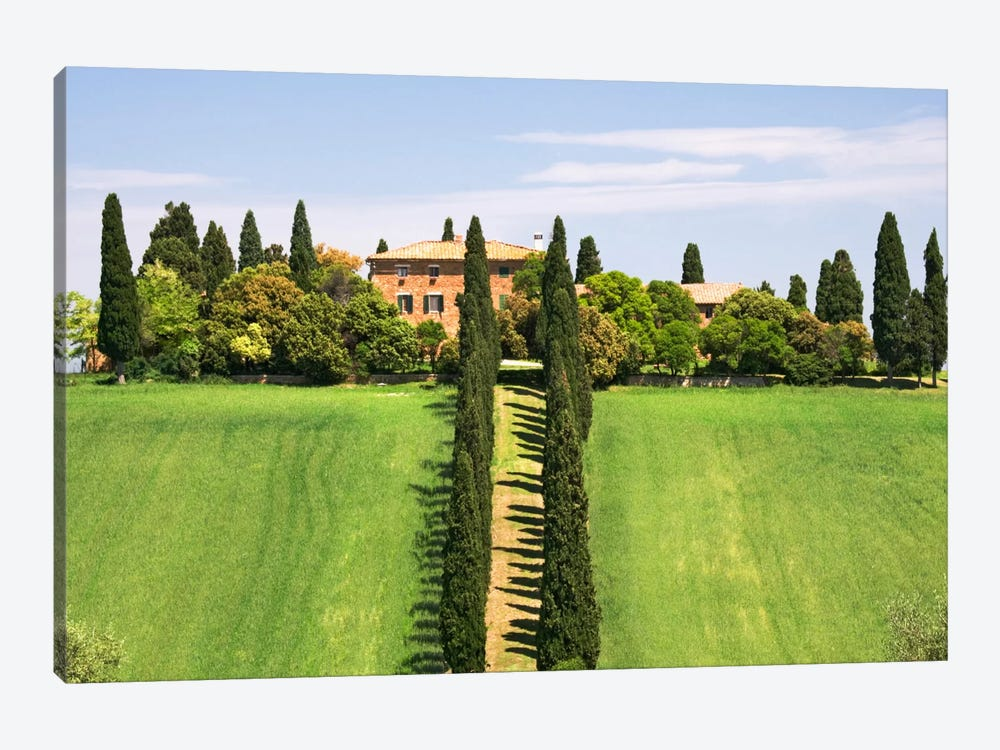 Country Estate, Val d'Orcia, Tuscany Region, Italy by Dennis Flaherty 1-piece Art Print