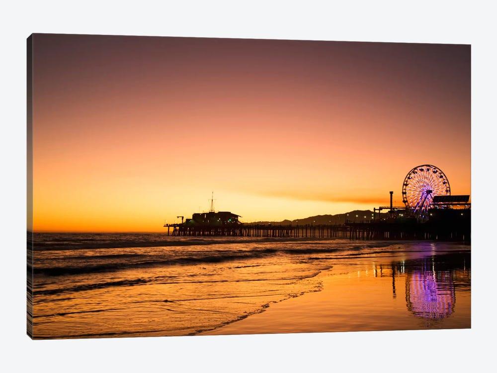 Santa Monica Pier At Sunrise, Santa Monica, California, USA by Dennis Flaherty 1-piece Canvas Print