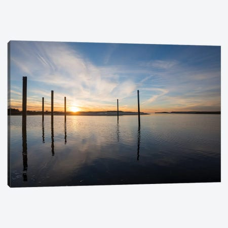Bay at Sunset Canvas Print #DFO1} by Doug Foulke Canvas Art Print