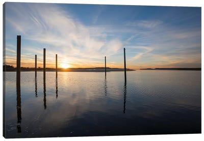Bay at Sunset Canvas Art Print