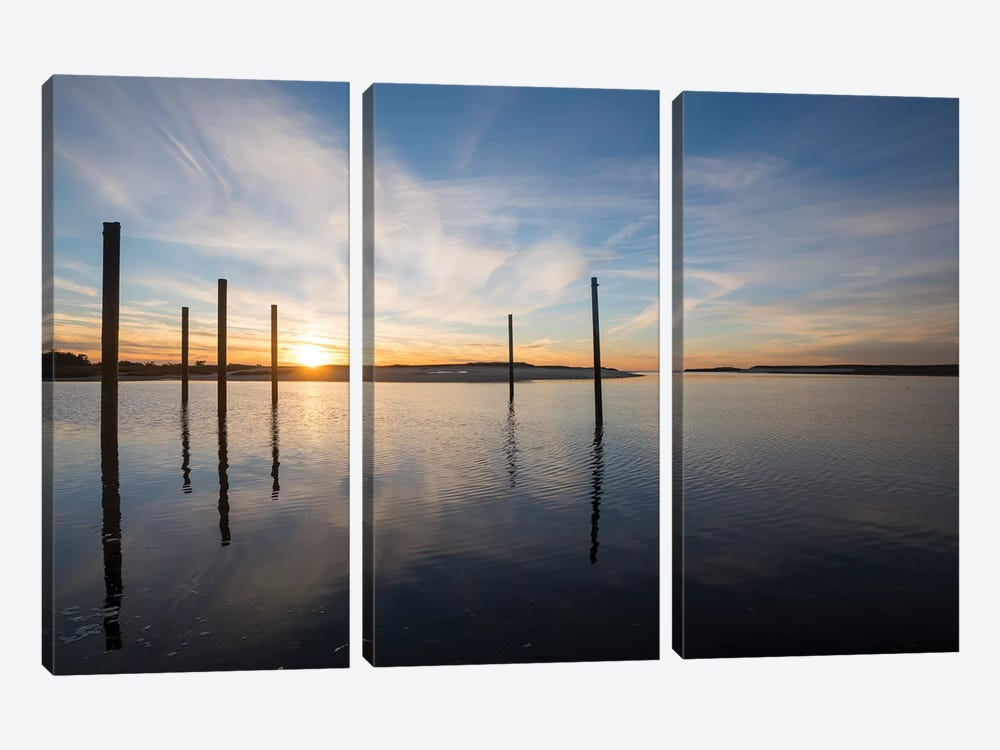 Bay at Sunset by Doug Foulke 3-piece Canvas Print