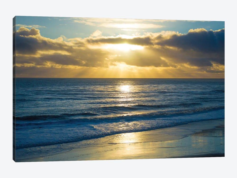 Beach Sunset Surfers by Doug Foulke 1-piece Canvas Artwork