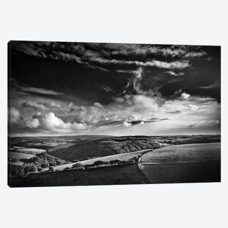 View Over Exmoor, Southwest Region, England, United Kingdom Canvas Print #DFU26} by Dorit Fuhg Canvas Print