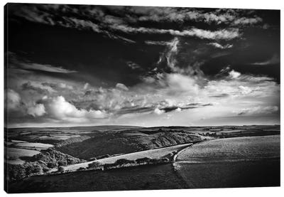 View Over Exmoor, Southwest Region, England, United Kingdom Canvas Art Print