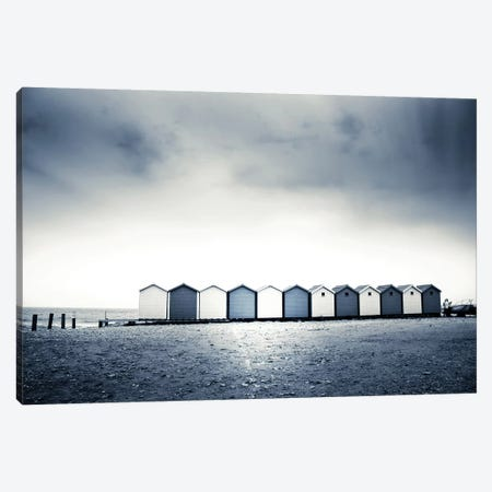 Beach Huts Canvas Print #DFU33} by Dorit Fuhg Canvas Print