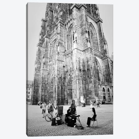 Cathedrale Notre Dame de Strasbourg 3-Piece Canvas #DFU44} by Dorit Fuhg Canvas Print