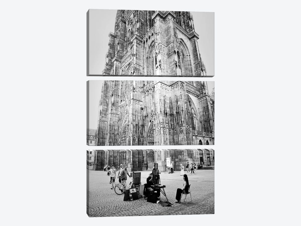Cathedrale Notre Dame de Strasbourg by Dorit Fuhg 3-piece Canvas Artwork