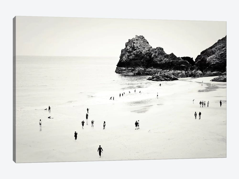 Cornwall Beach Life by Dorit Fuhg 1-piece Canvas Art Print