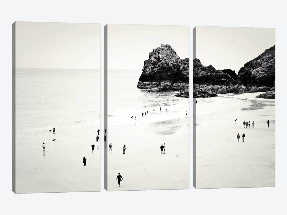 Cornwall Beach Life 3-piece Canvas Print