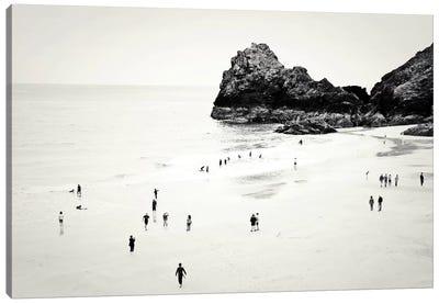 Cornwall Beach Life Canvas Art Print