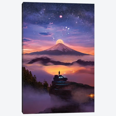 Following The Light Canvas Print #DGH16} by Diego Hernandez Canvas Wall Art