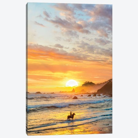A Day In The Beach Canvas Print #DGH1} by Diego Hernandez Canvas Print