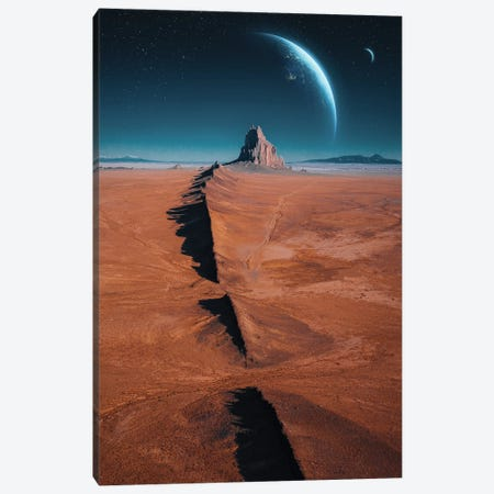 Mars Canvas Print #DGH29} by Diego Hernandez Canvas Wall Art