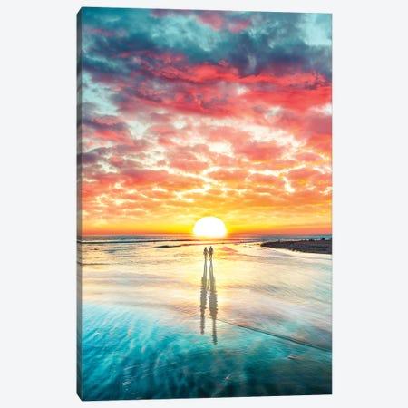 Beach Sunset Canvas Print #DGH2} by Diego Hernandez Art Print