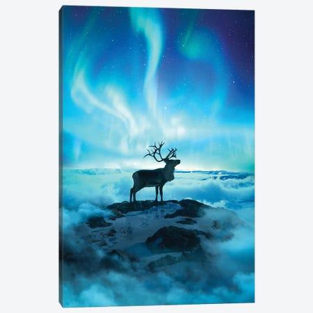 Reindeer Canvas Print #DGH37} by Diego Hernandez Canvas Wall Art