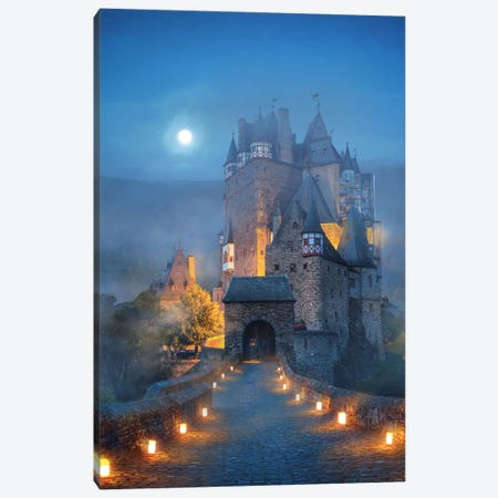 The Castle Canvas Print #DGH41} by Diego Hernandez Canvas Wall Art