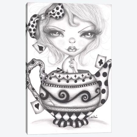 Alice Lost In A Tea Pot Canvas Print #DGL11} by Dottie Gleason Canvas Art Print