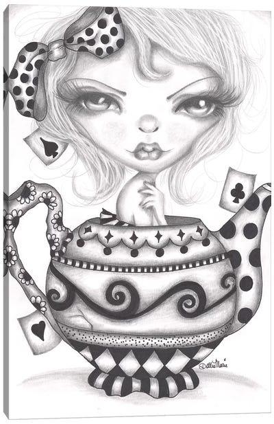 Alice Lost In A Tea Pot Canvas Art Print