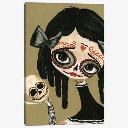 Skull In Hand Canvas Print #DGL139} by Dottie Gleason Art Print
