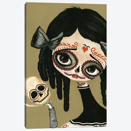 Skull In Hand Canvas Print #DGL139} by Dottie Gleason Art Print