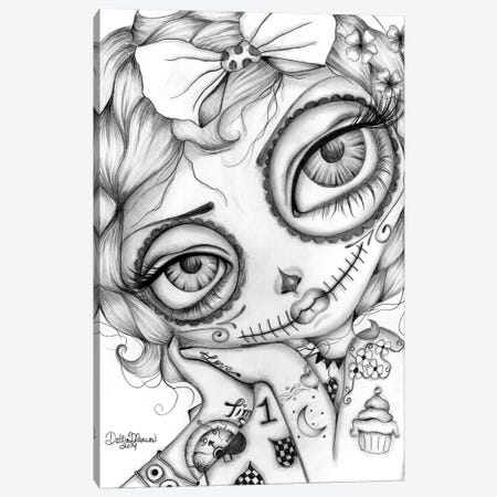 Amelia Day Of The Dead Canvas Print #DGL16} by Dottie Gleason Canvas Wall Art