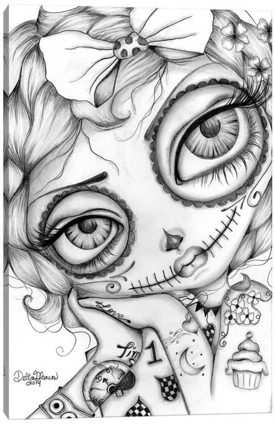 Amelia Day Of The Dead Canvas Art Print