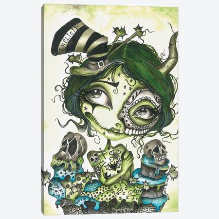 Explicit Zombie Girl Canvas Print #DGL172} by Dottie Gleason Canvas Art Print