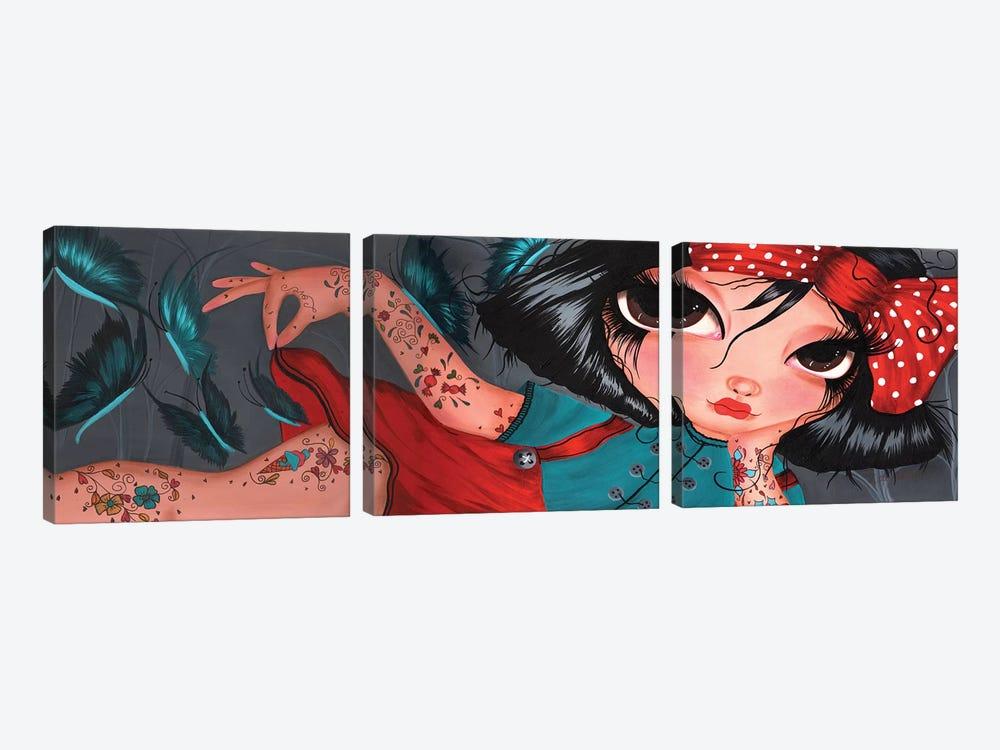 Amelie Pinup by Dottie Gleason 3-piece Canvas Print