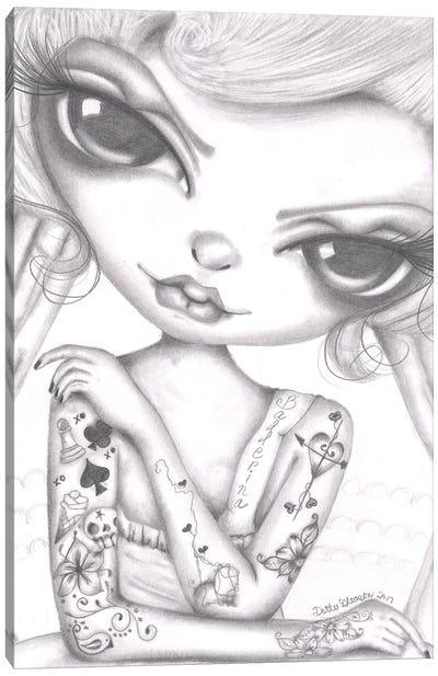 Ballerina Girl Canvas Art Print