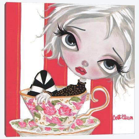 A Little Cup Of Tea Canvas Print #DGL2} by Dottie Gleason Art Print