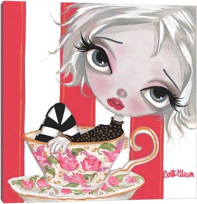 A Little Cup Of Tea Canvas Art Print
