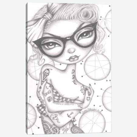 Betty Canvas Print #DGL35} by Dottie Gleason Canvas Artwork