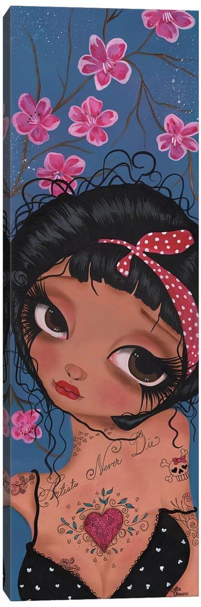 Betty Pin Up Girl Canvas Art Print