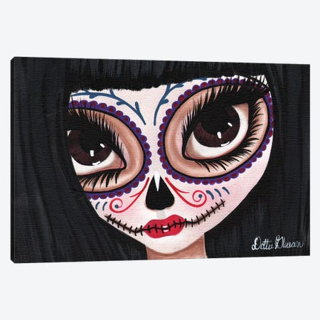 Day Of The Dead I See You Canvas Print #DGL60} by Dottie Gleason Canvas Wall Art