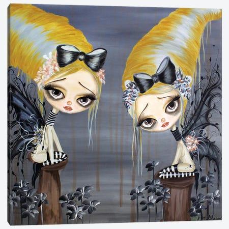 Fairies Lost Canvas Print #DGL76} by Dottie Gleason Canvas Wall Art