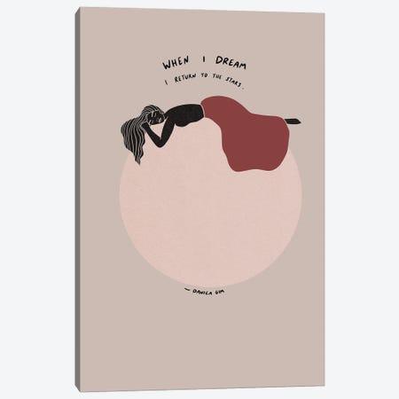 When I Dream Canvas Print #DGM16} by Danica Gim Canvas Print