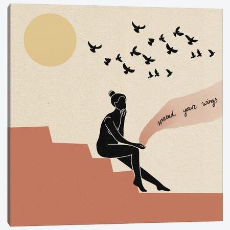Spread Your Wings Canvas Print #DGM17} by Danica Gim Art Print